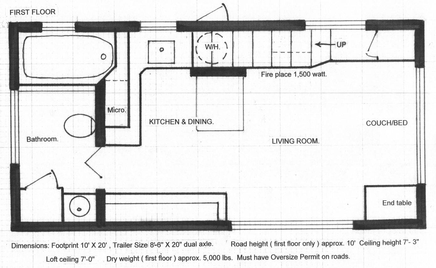 Floor plans tiny house Blueprints for sale