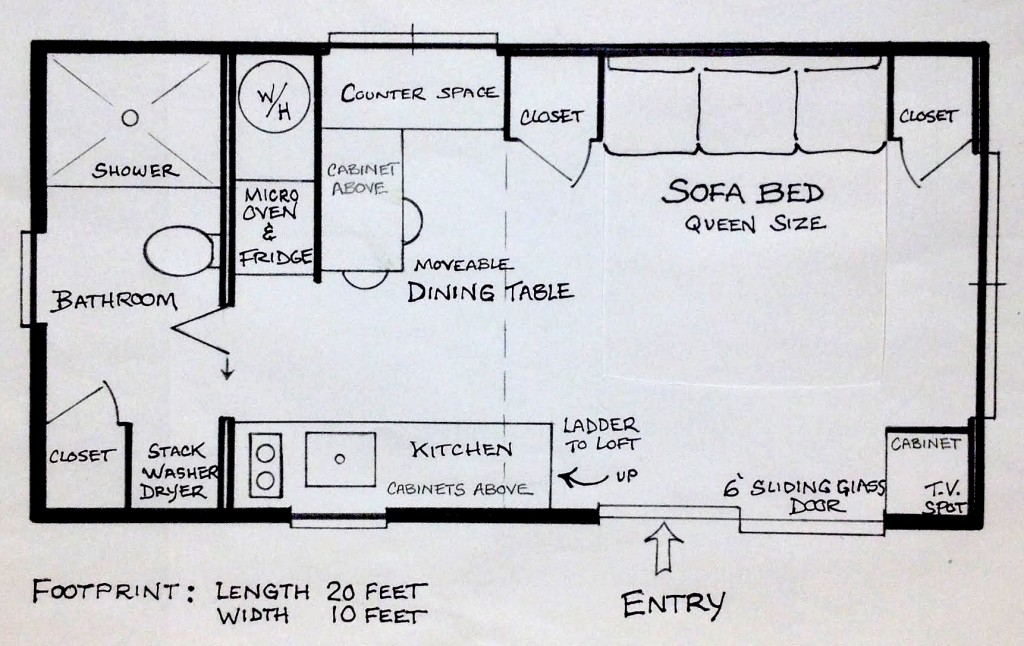 Aurora Tiny House Floor Plan